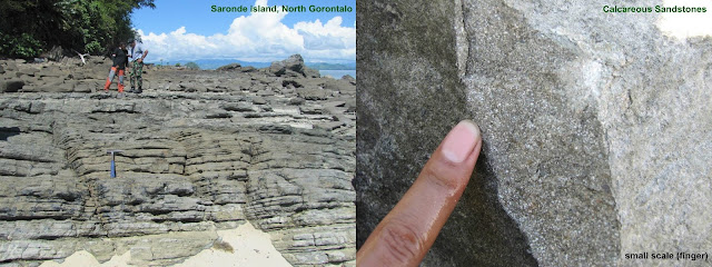 SIKLUS BATUAN - GEOLOGI - EFBUMI - Singkapan batupasir karbonatan di Pulau Saronde - Gorontalo Utara