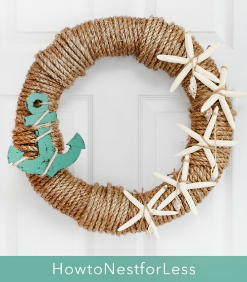 Nautical rope wreaths coastal decor ideas and interior for Where to buy nautical rope for crafts