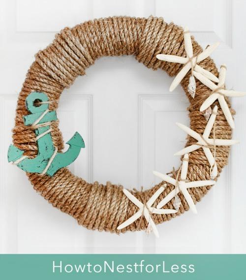 Nautical rope wreaths coastal decor ideas and interior for Nautical craft ideas