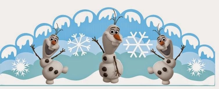 Frozen: Olaf Free Printable Crown.