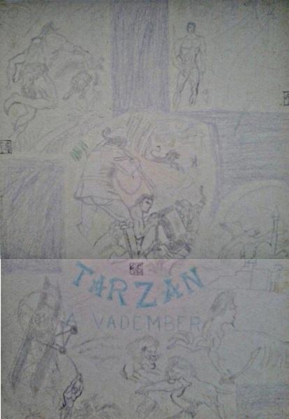 Tarzan a vadember saját rajz könyvből lerajzolva
