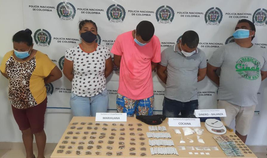 https://www.notasrosas.com/ captura cinco personas en Fonseca, por trafico de estupefacientes