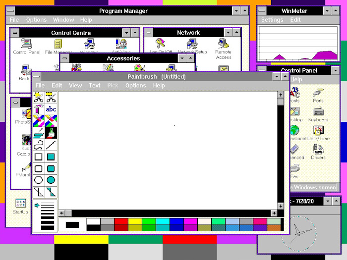 Windows 3.1 and Windows For Workgroups 3.11 theme Summer of Love