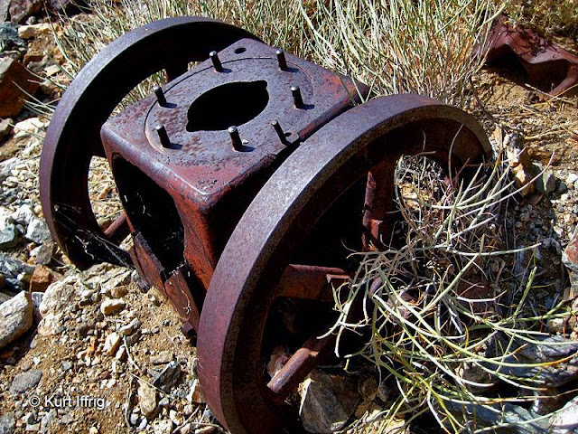 This artifact, found near Contact Mine has yet to be identified, possibly part of a hoist.