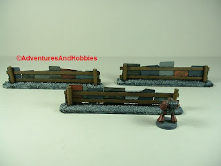 Urban 25-28mm war game terrain battlefield barricade made from scrap metal - rear view