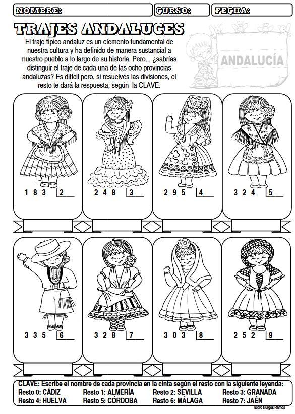 Actividades sobre los trajes típicos Andalucía