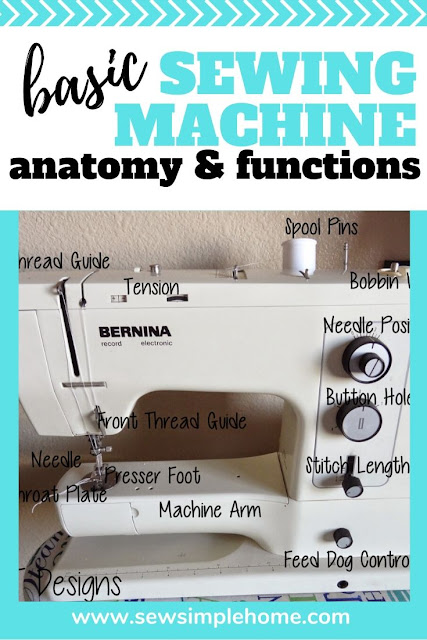 Learn basic sewing machine anatomy for beginners sewers with this video, photo and list of parts of the sewing machine.