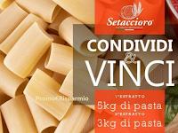Logo Vinci gratis 3 o 5 kg. di Pasta Setaccioro : come partecipare !