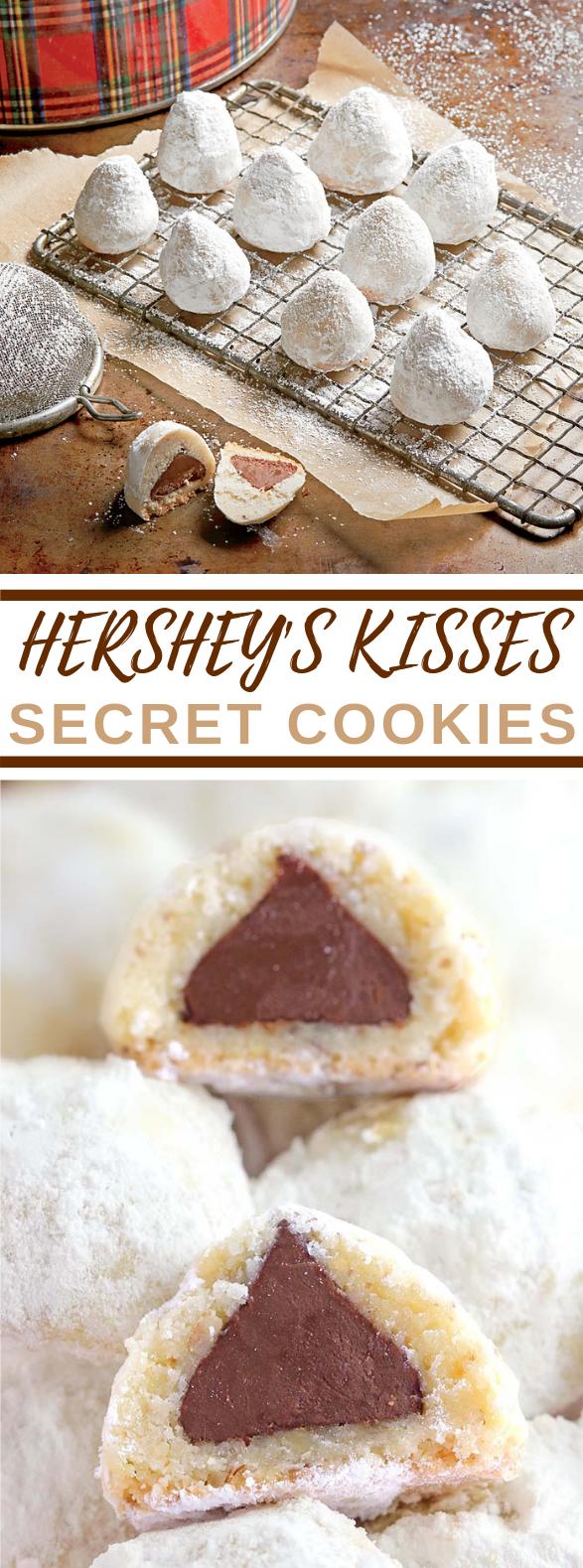 Hershey's Secret Kisses Cookies #desserts #valentineday