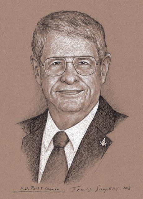 M.W. Paul F. Gleason. Past Grand Master. Grand Lodge of Massachusetts. by Travis Simpkins