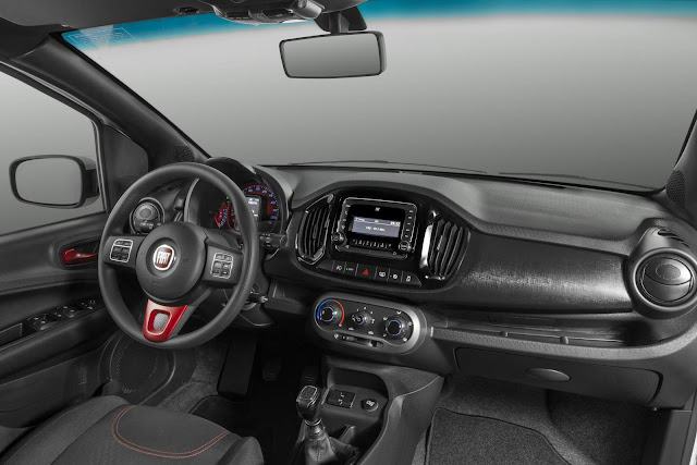 Novo Fiat Uno 2017 Way - interior