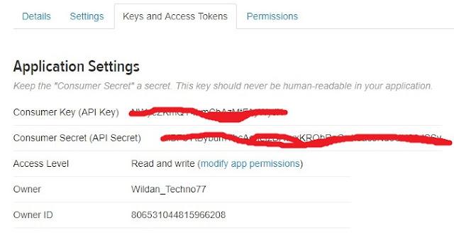 Mendapatkan Key API