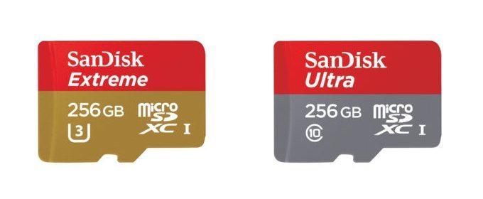 SanDisk mengeluarkan micro sdxc baru dengan kapasitas 256GB