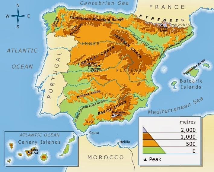 Kraljevina Španija - Page 2 RELIEF+OF+SPAIN