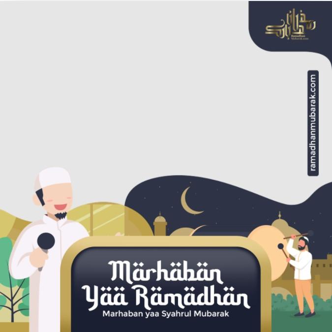 Gambar twibbon marhaban ya ramadhan 2021
