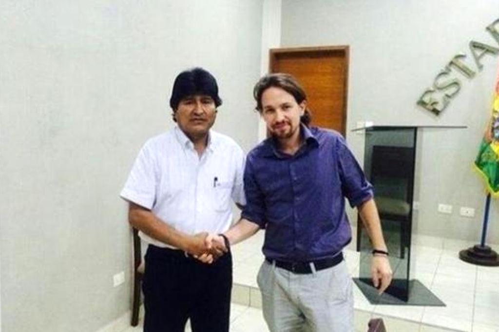 Morales recibió a Iglesias en 2014, en la gira del español que incluyó a Ecuador y Uruguay / ARCHIVOS WEB