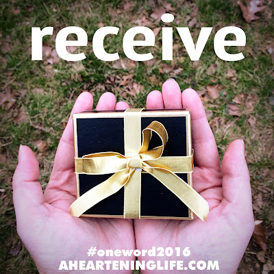 Receive (My #OneWord365 for 2016)