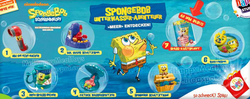 Happy Meal Toys Collection Fan Site Spongebob Squarepants