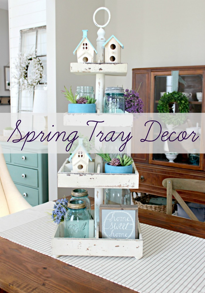 Spring Decorating Ideas: Easy Spring Decorating Idea: Tiered Tray Decor