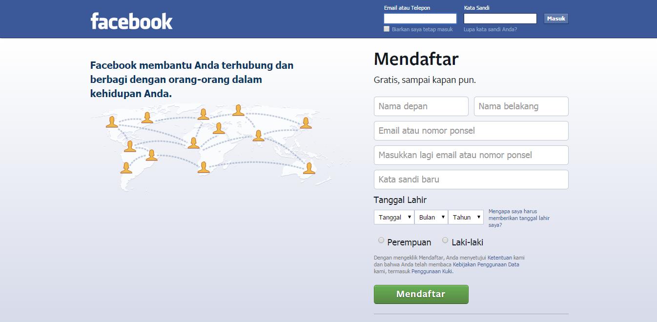 Cara Membuat Facebook Baru Dengan Mudah Dan Cepat | Daftar Facebook Baru