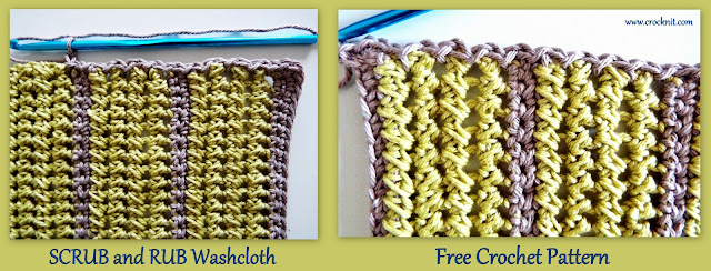 free crochet patterns, crochet for men, washcloths, facecloths, how to crochet,