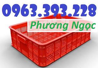 Sọt đựng hàng trong siêu thị, sọt rỗng cao 10, sóng nhựa HS010 60a9ad4d0620fe7ea731