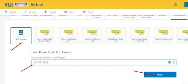 cek angsuran acc finance secara online