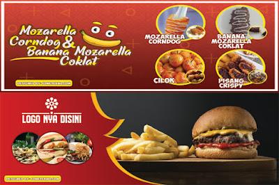 Desain Banner Usaha Makanan Terbaru