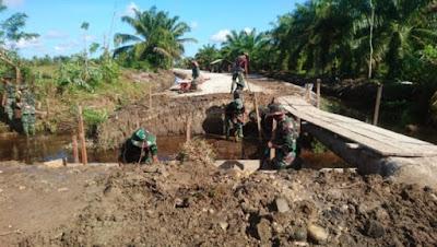 Kapendam IM : Satgas TMMD Kodim 0109/Aceh Singkil Bangun Jembatan Ke-Tiga