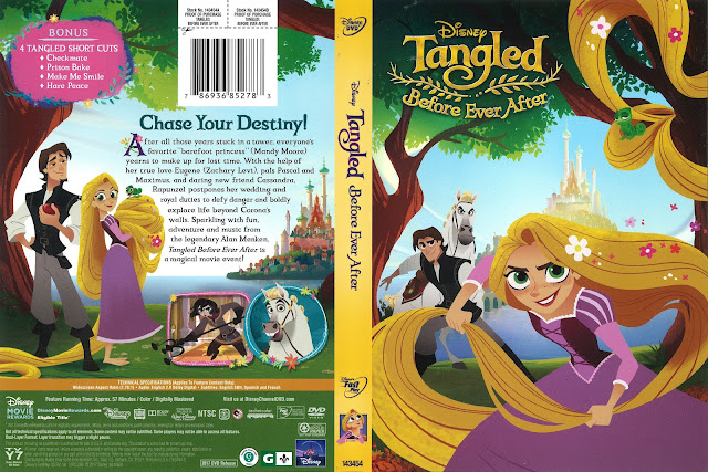 Tangled Before Forever After DVD Cover