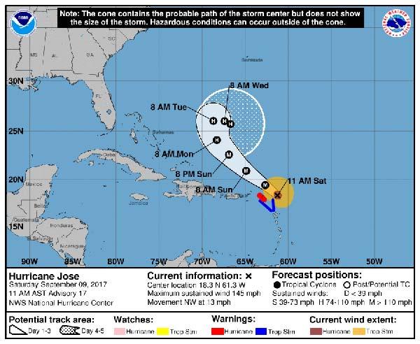 El huracán Irma desciende a categoría 3 y huracán Katia va desapareciendo