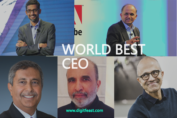 Top CEO of India that are handed  world top companies.
