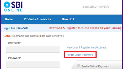 Log in to the internet banking website