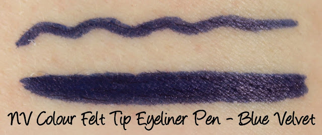 NV Colour Felt Tip Eyeliner Pen - Blue Velvet Swatches & Review