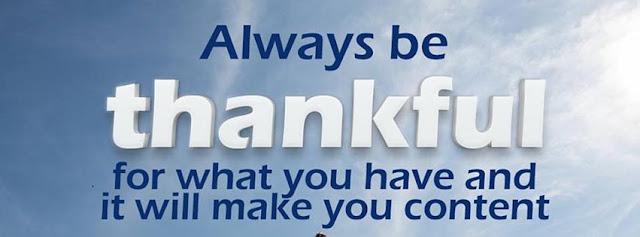 thankful Allah