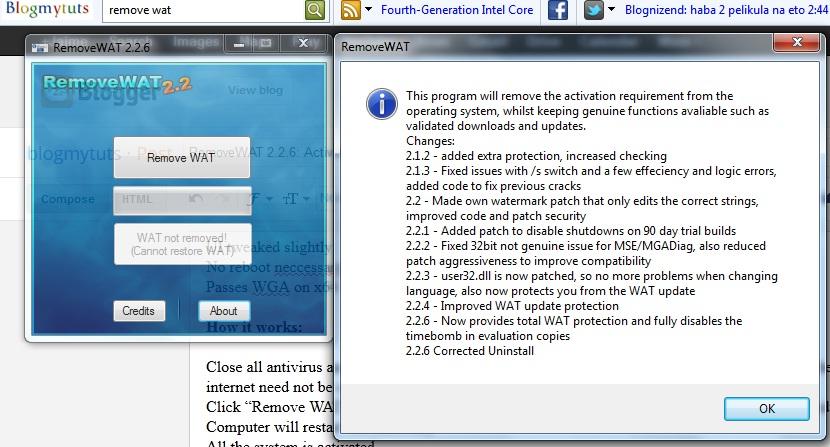 removewat 2.2 windows 7 ultimate