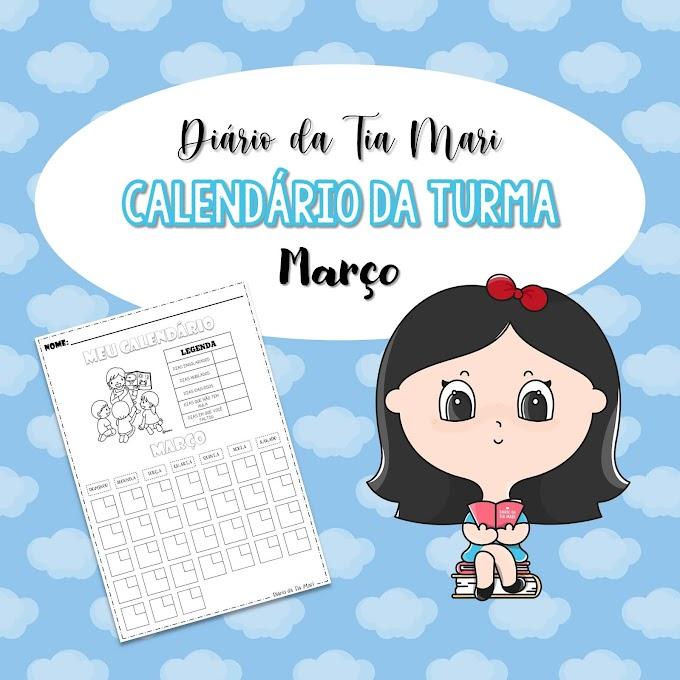 Calendário da Turma - Março