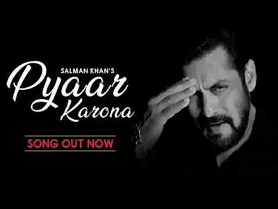 Pyar Karona Lyrics - Salman khan