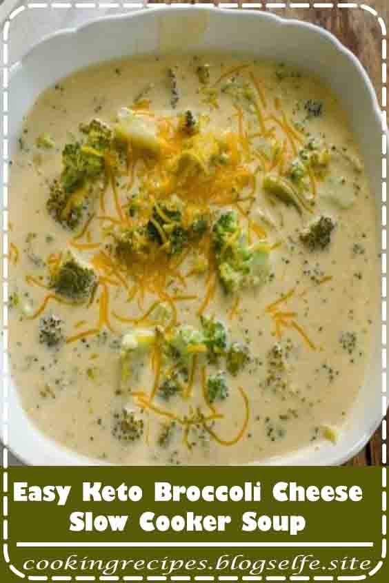 4.7 ★★★★★ | A recipe for keto broccoli cheese soup. It's low carb broccoli and cheese soup made easily in the slow cooker or stovetop. This is a thick hearty soup that is thickened with only cheese. | #keto dinner recipes #crock pot #soup