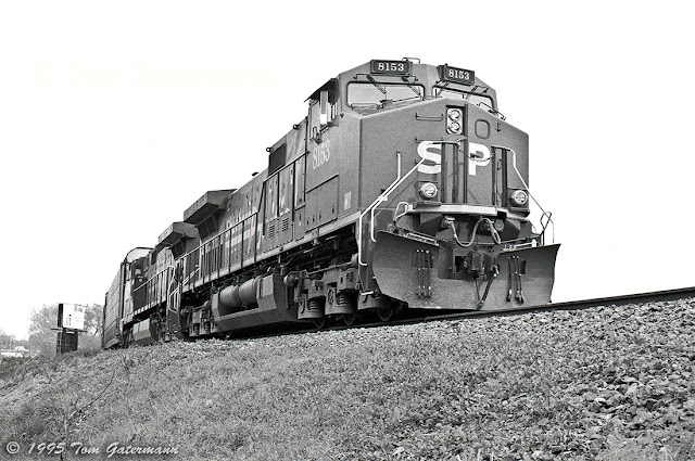 SP 8153 Waiting at Maplewood, MO.