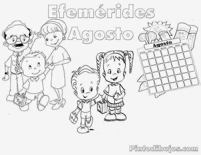 Efemerides De Septiembre Para Colorear Pinto Dibujos