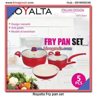 ROYALTA 5 PCS Panci set ceramic pink red