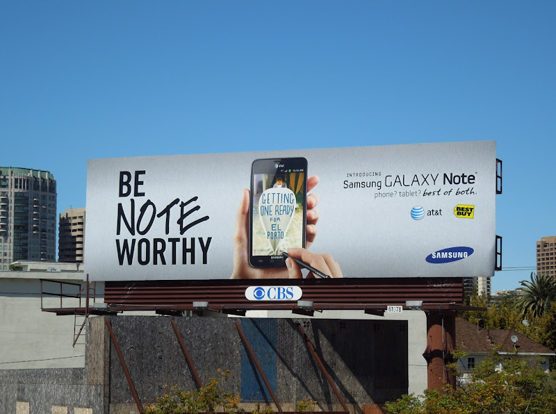 Samsung Galaxy Be Note Worthy billboard