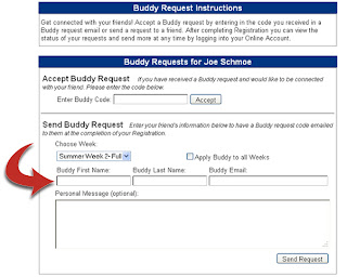 Enter your friend's name in the send request box