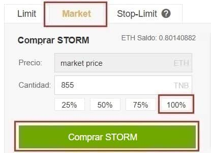 Comprar STORM en Binance y Coinbase