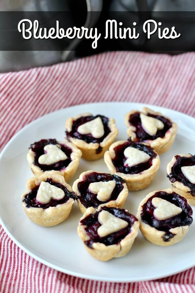 Blueberry Mini Pies made in a muffin tin