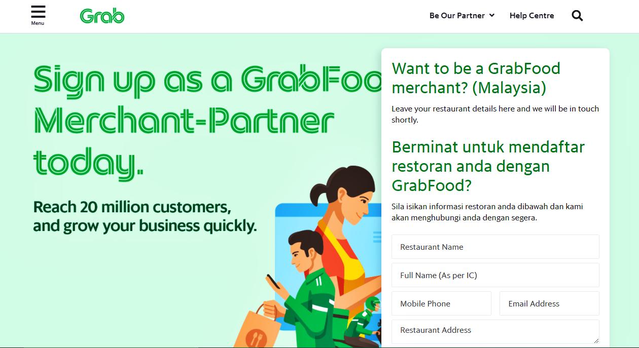 Cara Daftar Grabfood Merchant (Kedai Makan & Restoran)
