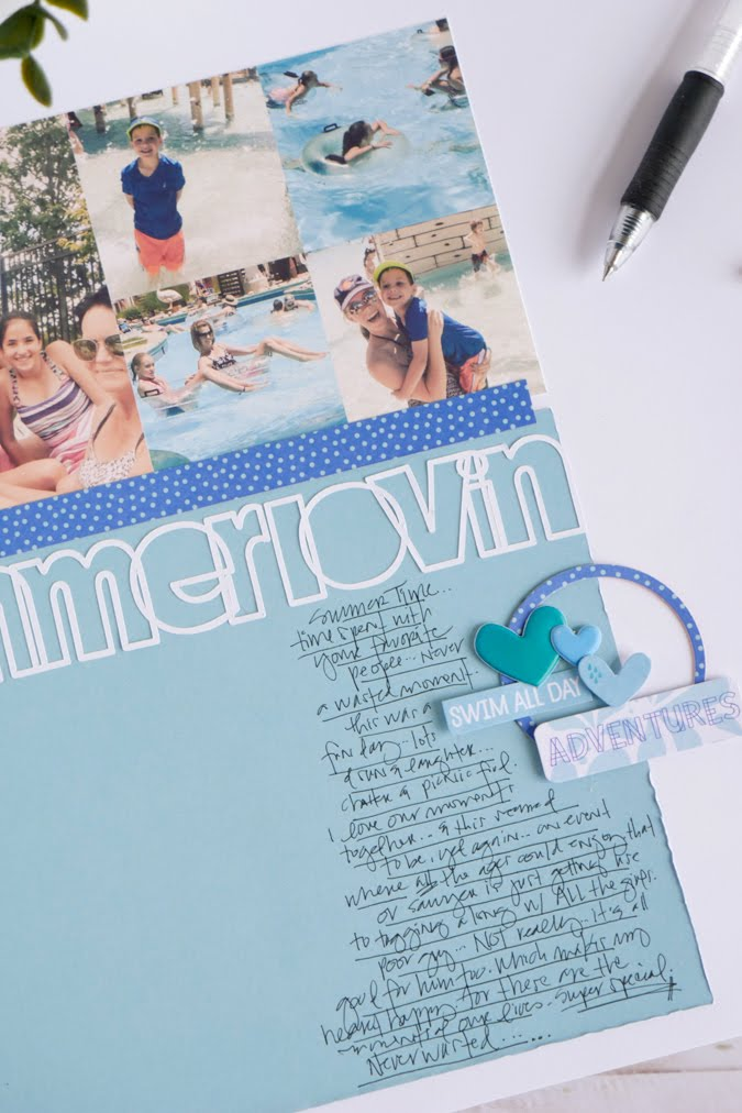 One Way To Add Words - Journaling by Jamie Pate  |  @jamiepate for @bellablvd