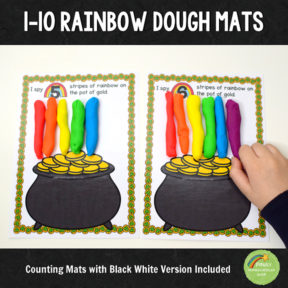 1 to 10 Rainbow Stripe Counting Mats