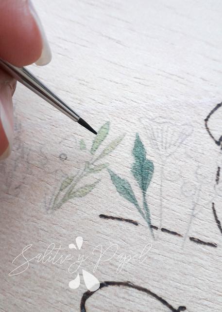 detalle creación libro de firmas artesanal con ilustración